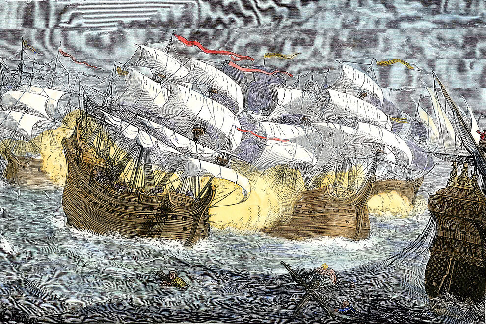 AC2GFF Seizure of Spanish treasure ships by the English fleet of Sir...