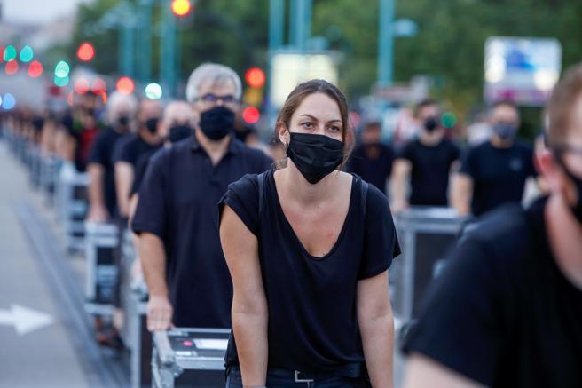 Manifestantes de Alerta Roja en Zaragoza