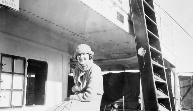 Agatha Christie en su juventud