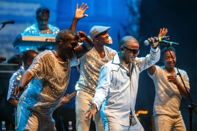 Kool and the Gang , durante el concierto que ofrecieron en el Festival de Pedralbes en 2017
