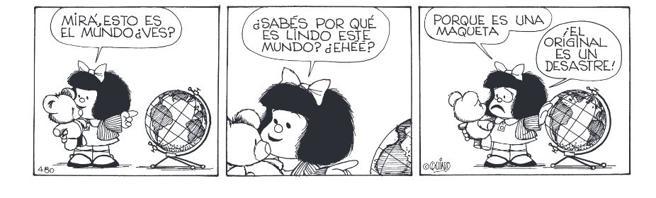 Mafalda opinando sobre la actualidad