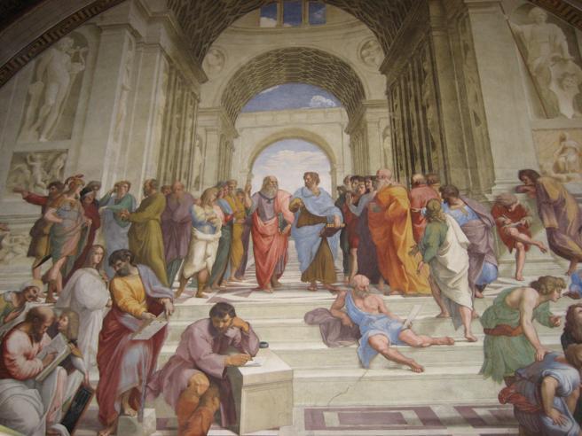 El fresco de Rafael 'La escuela de Atenas', con los grandes filósofos griegos