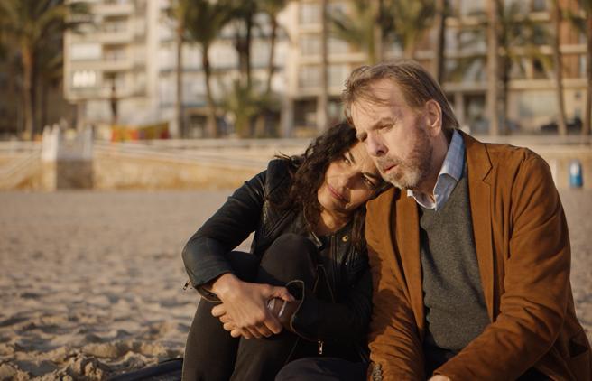 Imagen del rodaje de 'Nieva en Benidorm', de Isabel Coixet