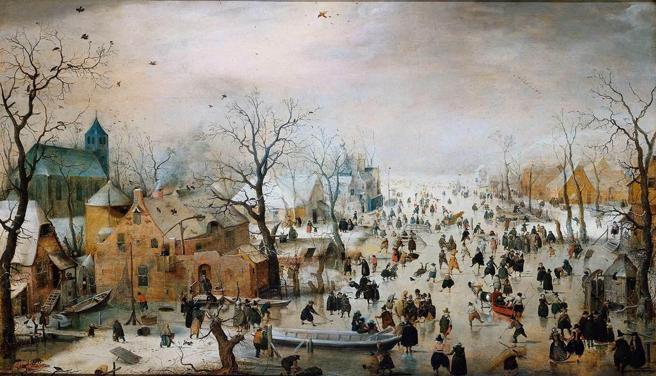 Un cuadro de Hendrick Avercamp que retrata la Pequeña Edad de Hielo en Europa