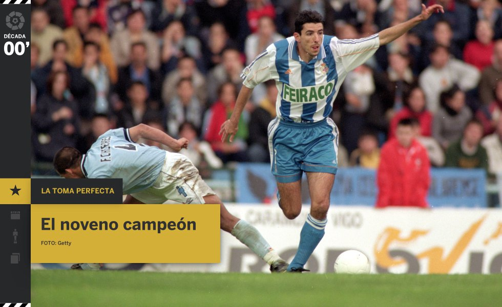 Solo nueve de los 62 equipos que participaron en los 90 años de LaLiga Santander han sido campeones. El último en sumarse a la lista fue el RC Deportivo, que se había convertido durante los años noventa en el Super Depor de Arsenio, específicamente el 3 de octubre de 1992, cuando remontaron un 0-2 ante el Real Madrid en Riazor, donde los blancos no volvieron a ganar hasta enero de 2010. La gloria para Makaay, Djalminha, Donato, Fran y compañía, un Depor más sofisticado, dirigido por Javier Irureta, no llegó hasta el cambio de siglo. En el último partido ante el RCD Espanyol de Barcelona, el fantasma de 1994, el del torneo que se les escapó tras un penalti fallado por Djukic ante el Valencia CF, sobrevolaba Riazor, pero Donato, de cabeza a los tres minutos, abrió la época más gloriosa del deportivismo: al título liguero le sucedieron dos subcampeonatos, una Copa del Rey y dos Supercopas (2000 y 2002).