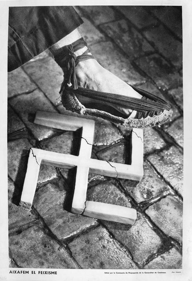 La famosa imagen del fotógrafo publicitario Pere Català Pic que sirvió como cartel del Comissariat de Propaganda