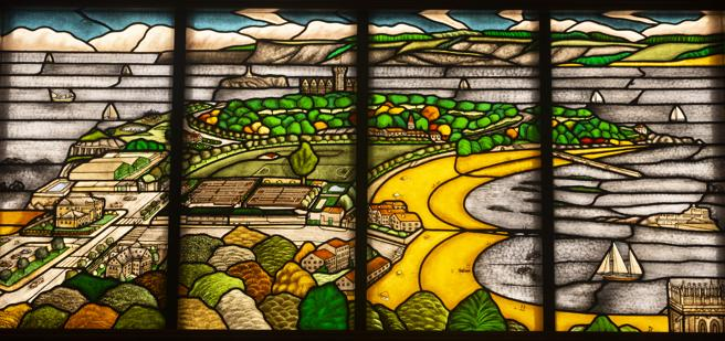 Santander, en otra obra del vidriero de esta ciudad
