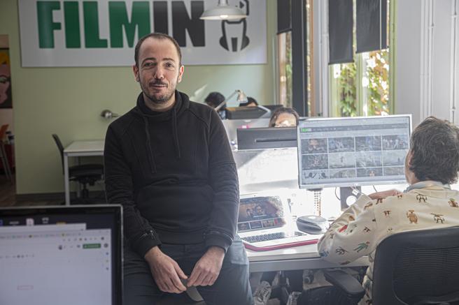 Jaume Ripoll en la sede barcelonesa de Filmin