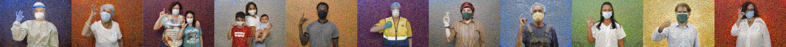Aspecto que tendrá el mosaico Solidaritat, de Joan Fontcuberta, que tendrá 50 metros de largo, y mostrará a palabra solidaritat expresada en lengua de signos catalana