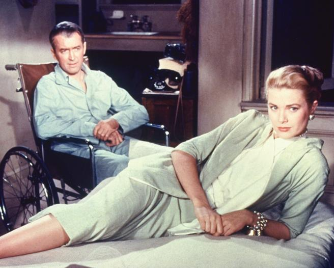 James Stewart y Grace Kelly en 'La ventana indiscreta'