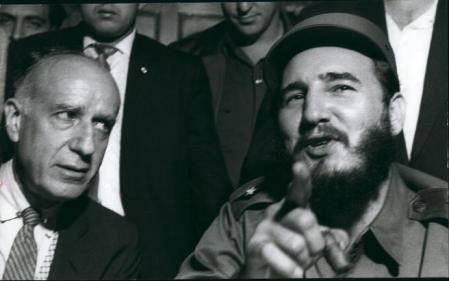 Apr. 16, 2012 - Fidel Castro & Herbert Mathews editorial Writer of the N.Y. Times (Credit Image: Keystone Pictures USA/ZUMAPRESS.com)