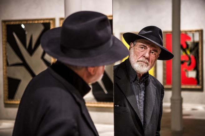 Michelangelo Pistoletto en la Blueproject Foundation, en 2015